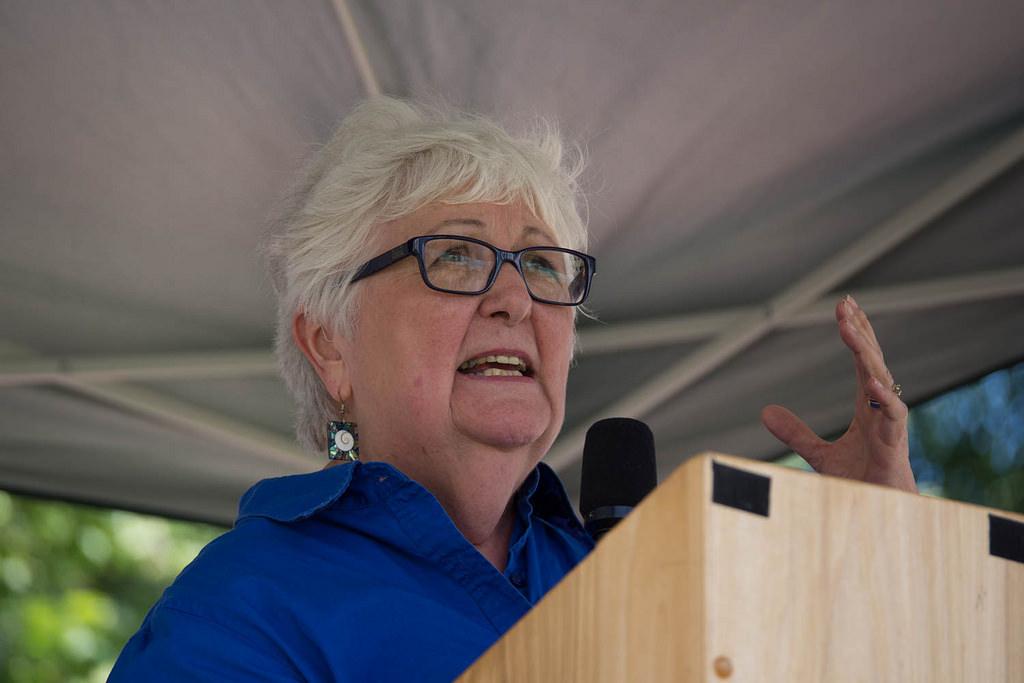 Wanda Guthrie 2015 climate rally