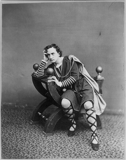 Edwin Booth as Hamlet. Photo by J. Gurney & Son, NY.
