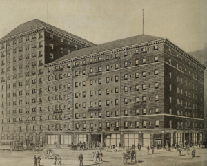 The Fort Pitt Hotel circa 1875.