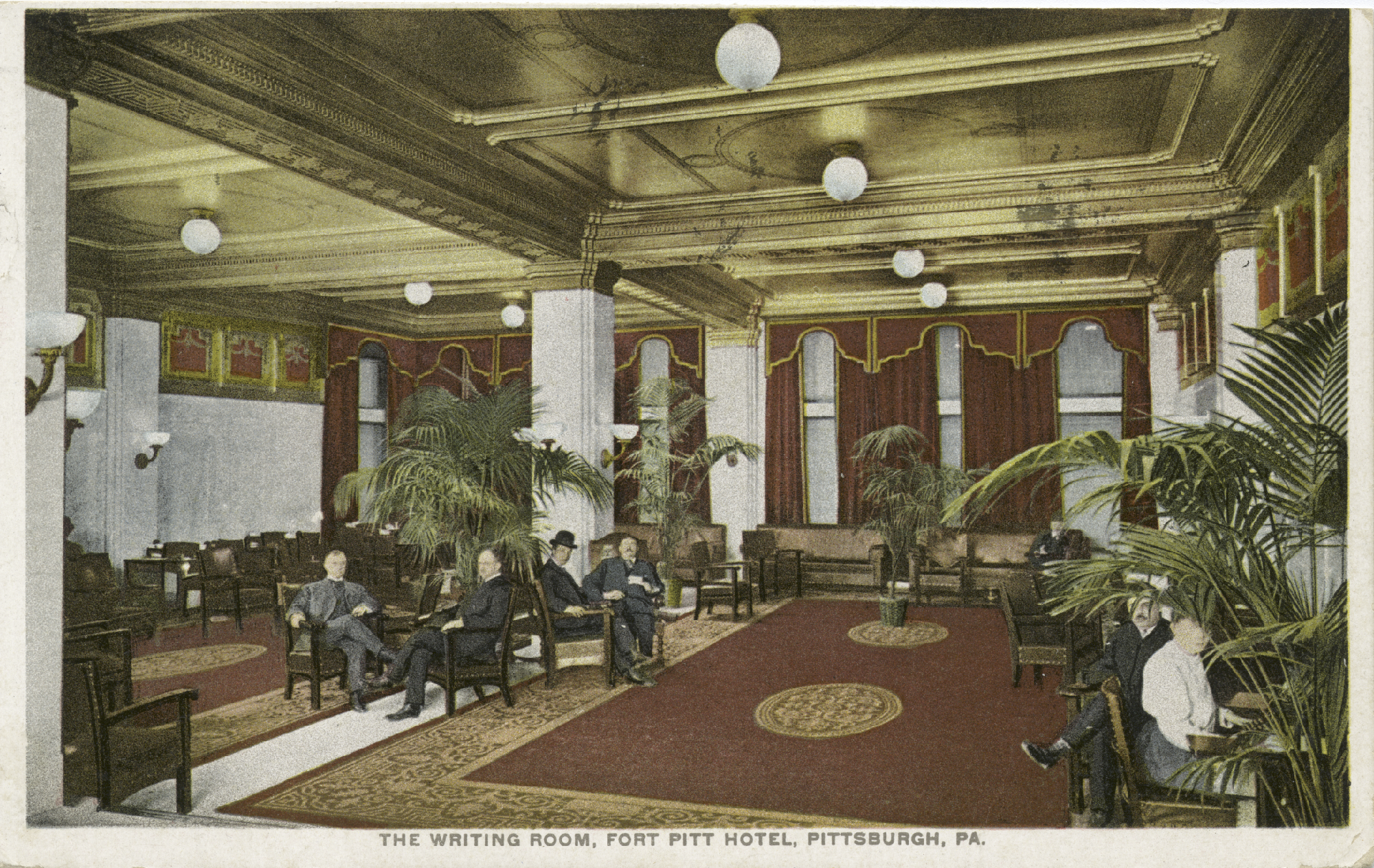 The Fort Pitt Hotel Writing Room circa 1898.